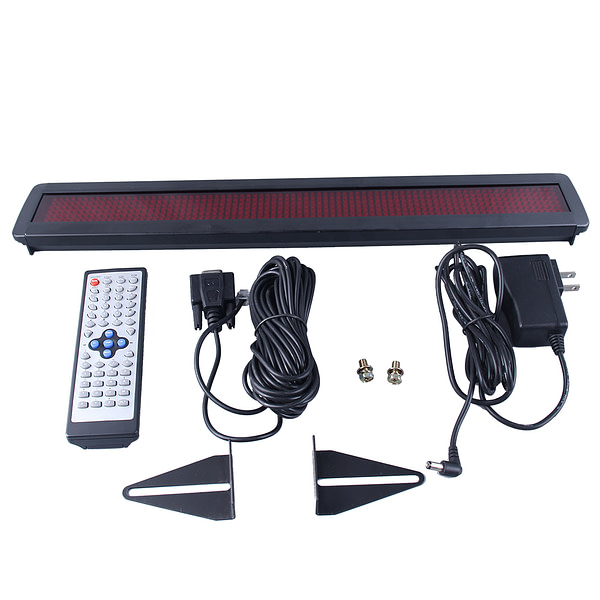 Amazon Hot 7*80 Dots Mini Remote Control LED Display Screen RS232/485 LED Moving Sign Banner