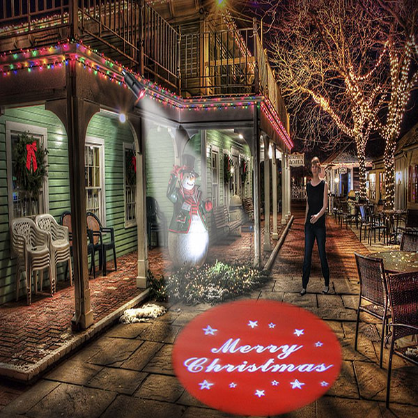 Welcome Merry Christmas Advertising Light Projection Lamp Door Night Indicator 110V 220V E27 LED Bulb Home Hotel LED Spot lamp