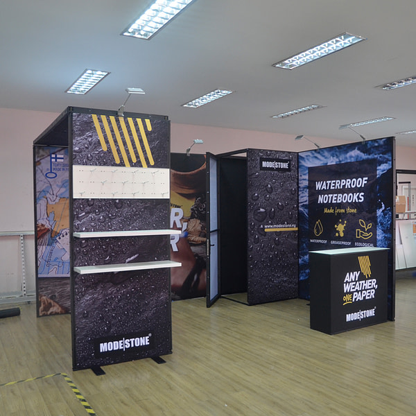 3x4 exhibition booth stands for trade show display