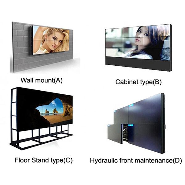 DID 55 zoll 1,7mm LCD Video Wand 3x3 monitor video wand Schmal Lünette für LCD werbung display digital signage
