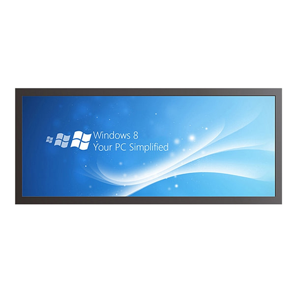 34 inch Shelf edge digital lcd display stretched bar ultra wide screen for supermarket advertisement Display size 885x50mm