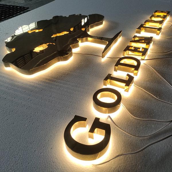 Name Board Designs Fancy Shop Store 3d Led Letter Sign With LED Backlit Outdoor Letter Signage
