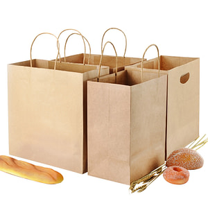 PYC Custom High Quality Multiple Takeaway Carrier Eco-friendly Shopping Kraft Paper Bag