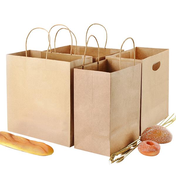 PYC Custom High Quality Multiple Takeaway Carrier Eco-friendly Shopping Kraft Paper Bag