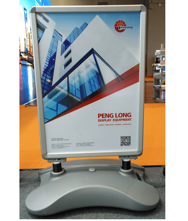 Aluminum heavy duty outdoor swing sign PE water base a0 advertising poster stand pavement sign