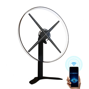 DZ52 wiikk 52cm 3D hologram LED fan display with acrylic cover holographic projector
